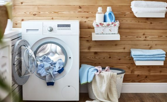 Laundry Machine with dirty clothes